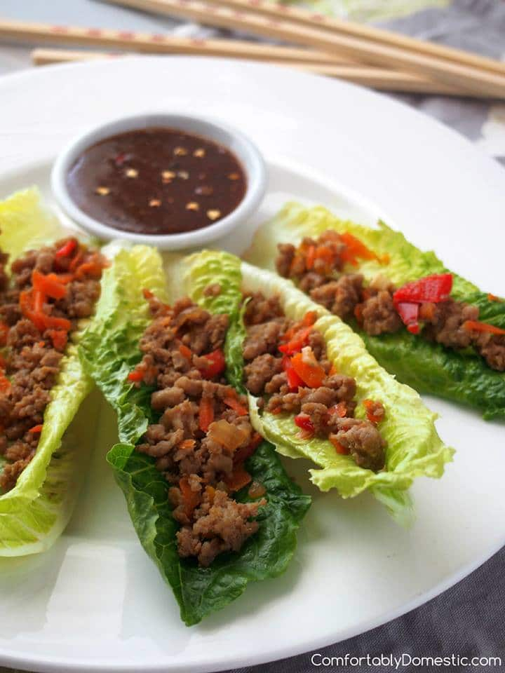 PF Chang's copycat version of lettuce wraps