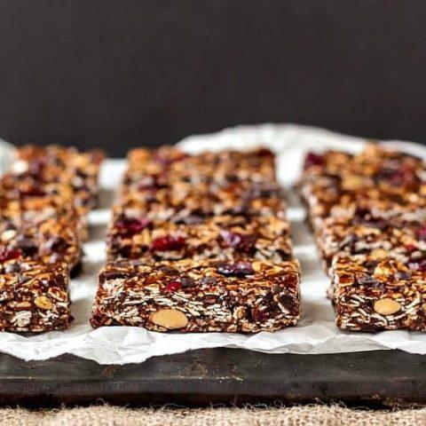 No-Bake Vegan Chocolate Chip Granola Bars