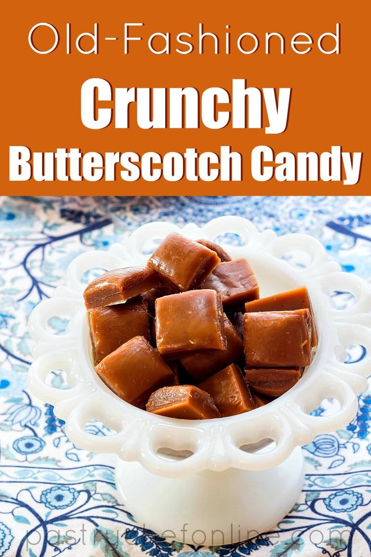 This old-fashioned crunchy butterscotch candy is going to become your new favorite candy. Homemade hard candy isn't hard to make, and you'll want to tackle it so you can enjoy this butterscotch hard candy. Tastes like mom used to make, if your mom made sweet candy treats! #butterscotch #candyrecipes #oldfashionedcandy