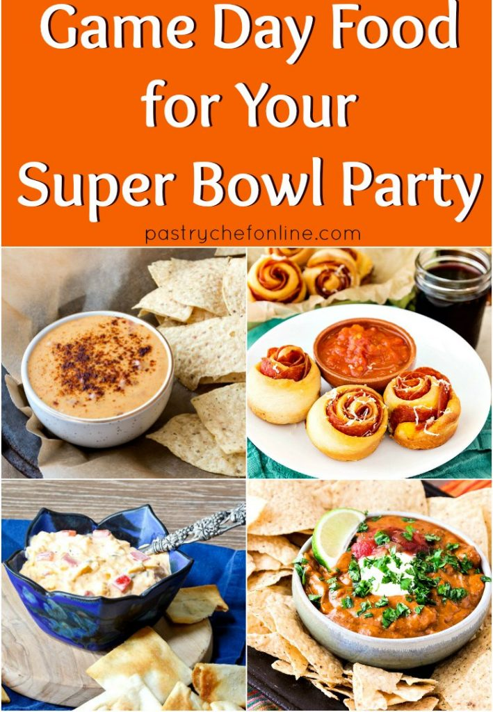 collage of game day food for your super bowl party. Text reads the same: game day food for your super bowl party