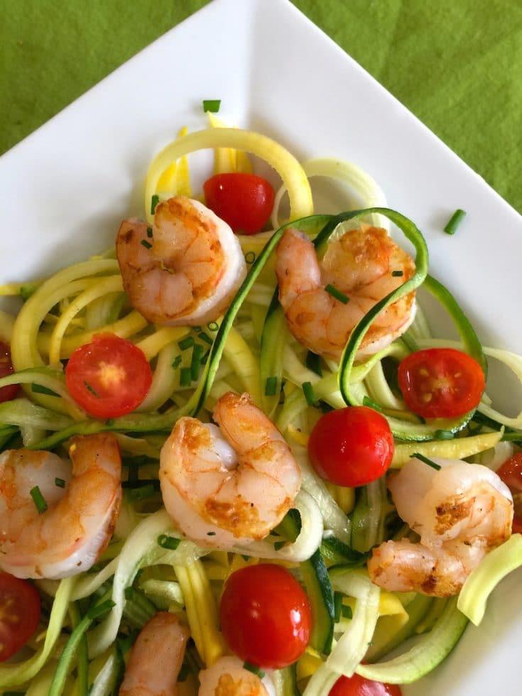 Pesto, Shrimp and Zoodles