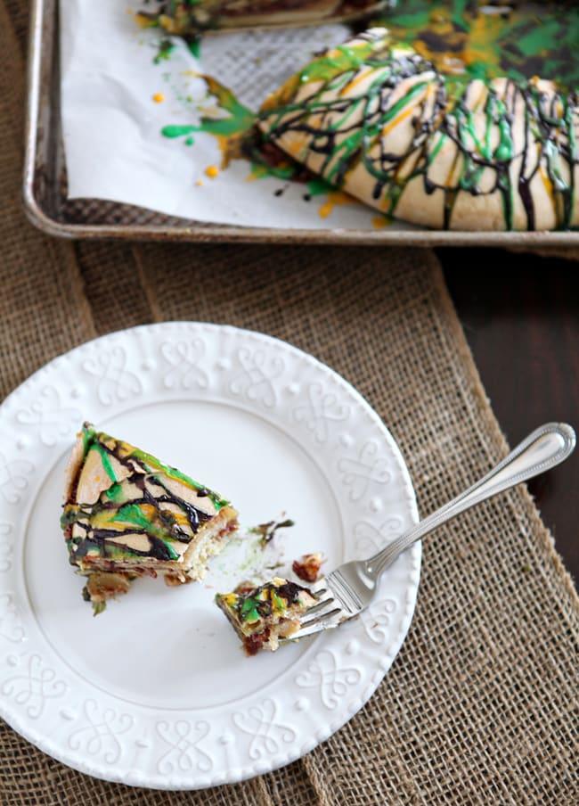 Cream Cheese and Raspberry King Cake