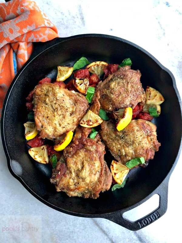 Keto Chicken Thighs with Charred Lemon | Pook's Pantry Recipe Blog