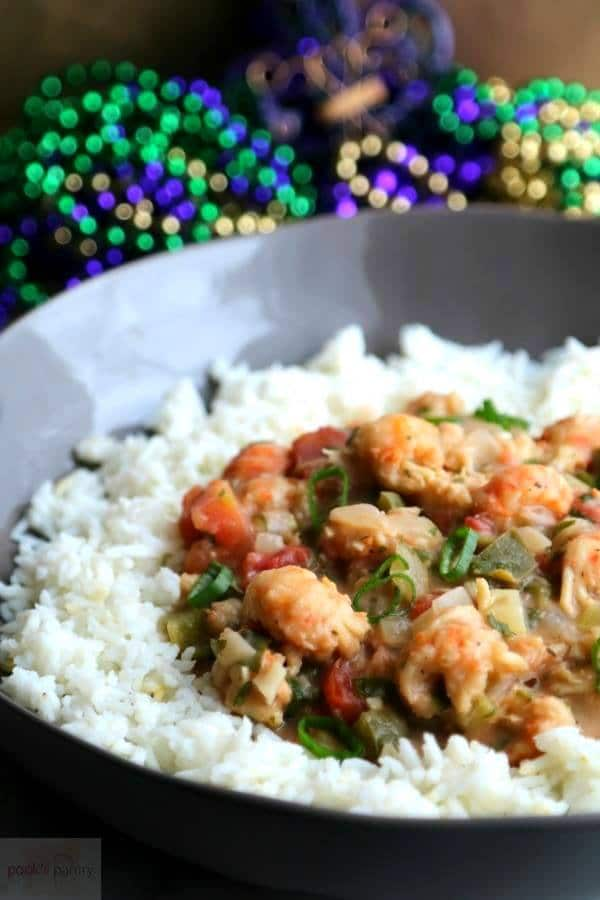 Langostino Étouffée New Orleans Recipe | Pook's Pantry Recipe Blog