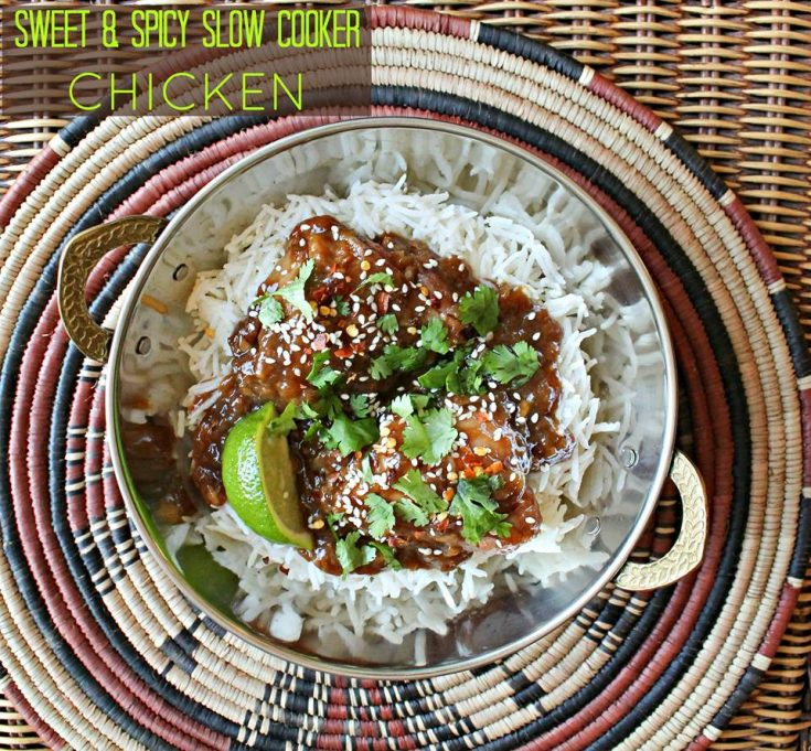 Sweet & Spicy Slow Cooker Chicken | Pook's Pantry Recipe Blog