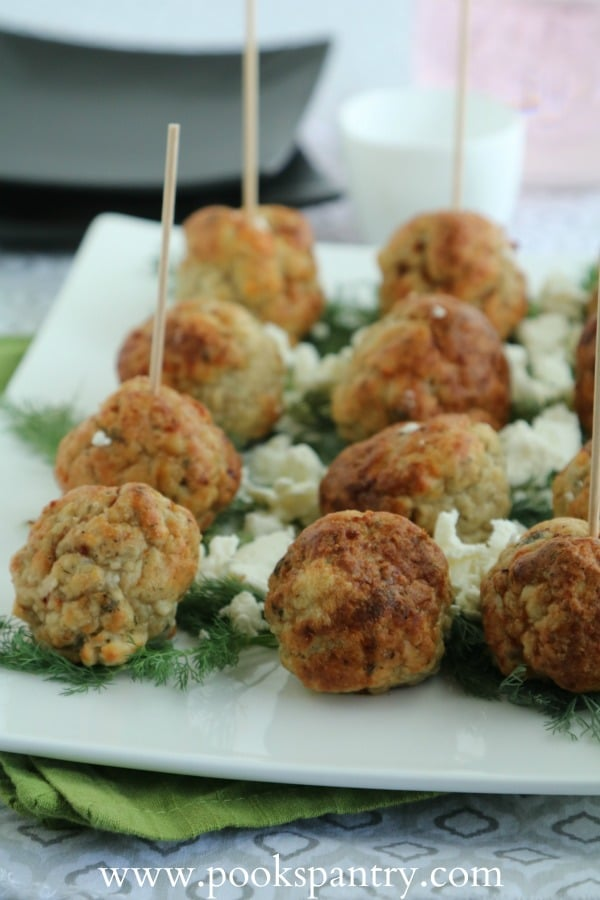 Mediterranean Baked Chicken Meatballs | Pook's Pantry Recipe Blog