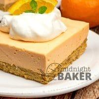 Orange Creamsicle Cheesecake Bars - The Midnight Baker
