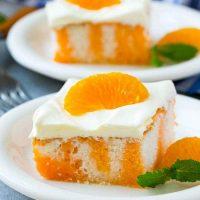 Creamsicle Orange Poke Cake