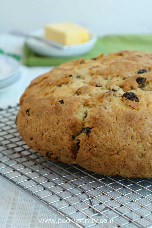 Sweet Irish Soda Bread with Golden Raisins and Currants