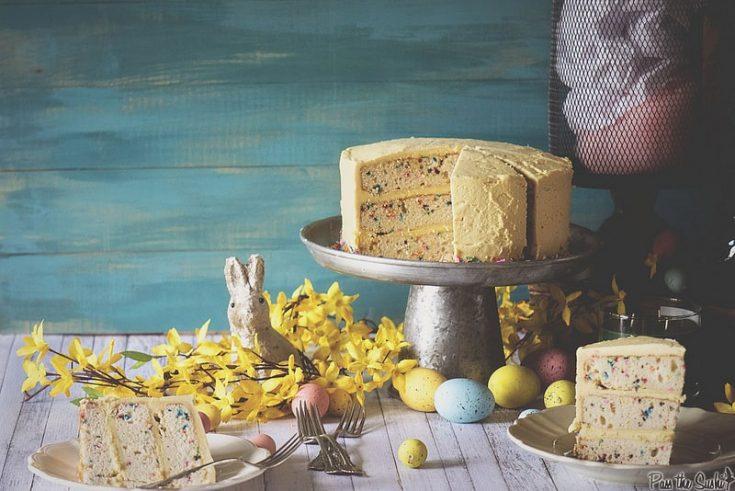Confetti Layer Cake with Vanilla Frosting