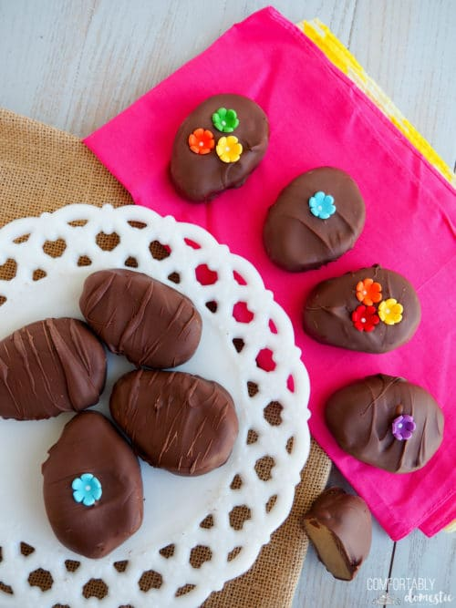 Chocolate Sunbutter Eggs for #EasterSweetsWeek