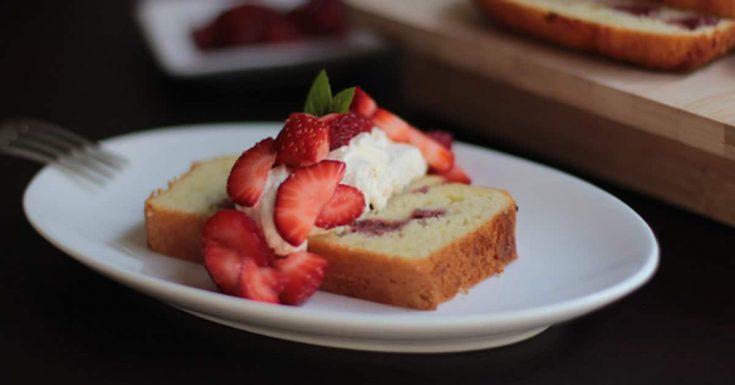 Roasted Strawberry Shortcake w Orange-Scented Whipped Cream