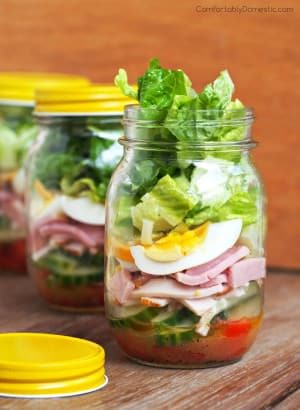Chef Salad in a Jar - Comfortably Domestic