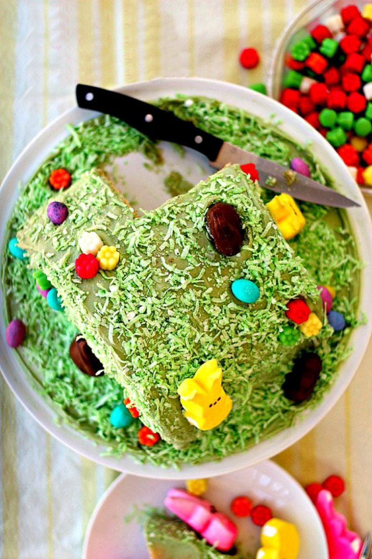 Cute and Easy Easter Bunny Hill Cake