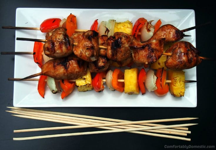 Soy Ginger Chicken Kabobs Recipe and 3 Rules for Easy Entertaining