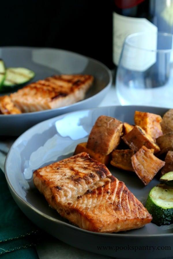 Brown Sugar Bourbon Salmon | Pook's Pantry Recipe Blog