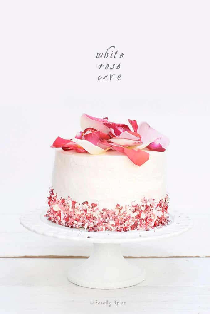 A White Rose Cake for Spring