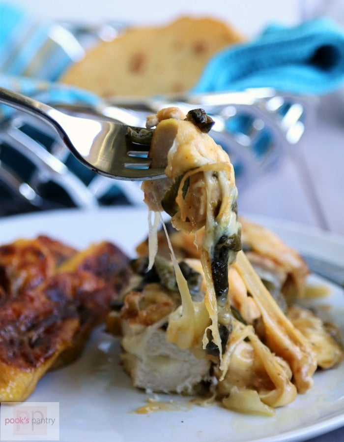 Cheese Stuffed Queso Fundido Chicken | Pook's Pantry Recipe Blog