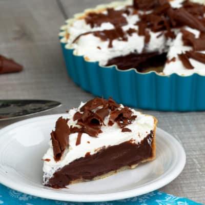 Chocolate Cream French Silk Pie - Comfortably Domestic