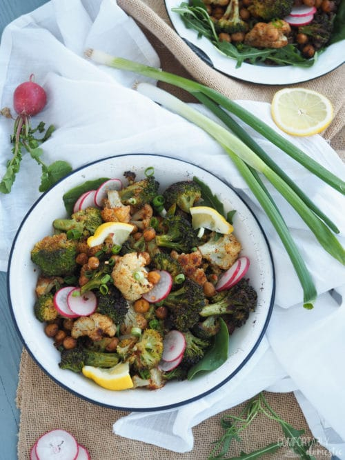 Moroccan Roasted Veggie Power Bowls - Comfortably Domestic