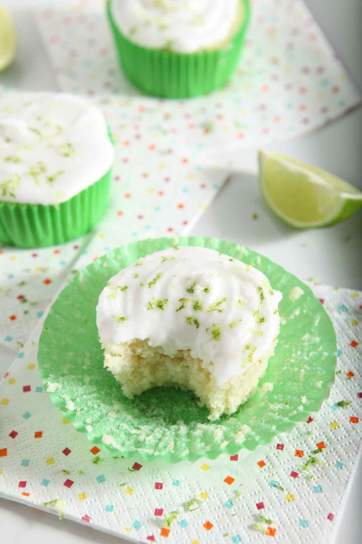 Margarita Cupcakes with Salted Tequila Frosting