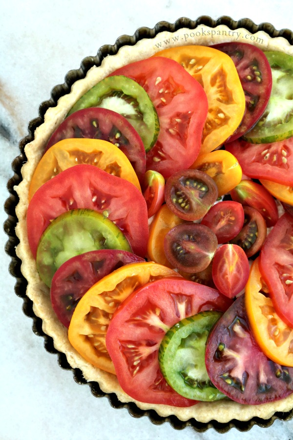 Tomato Tart Recipe with Goat Cheese | Pook's Pantry Recipe Blog