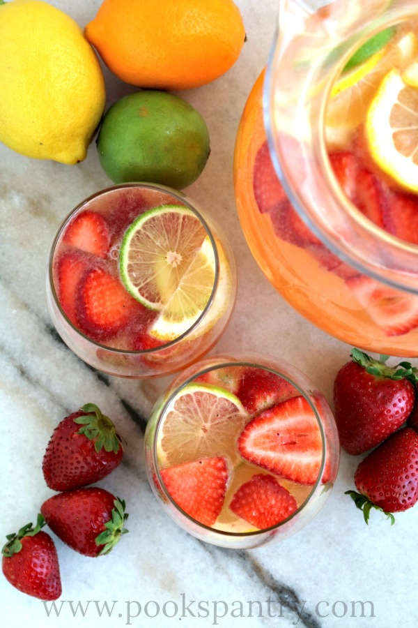 Strawberry Sangria with Rosé Wine | Pook's Pantry Recipe Blog