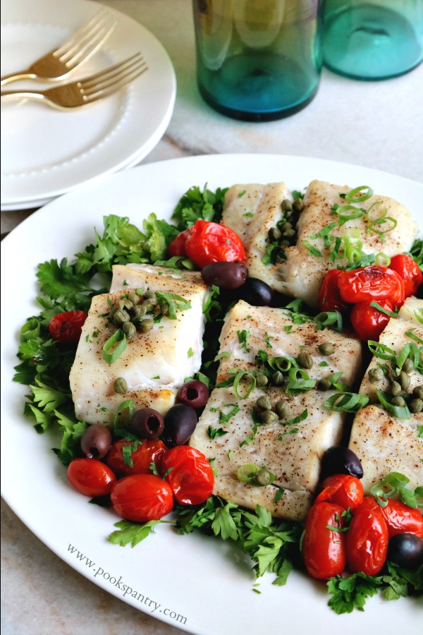 Baked Corvina Recipe with Tomatoes | Pook's Pantry Recipe Blog