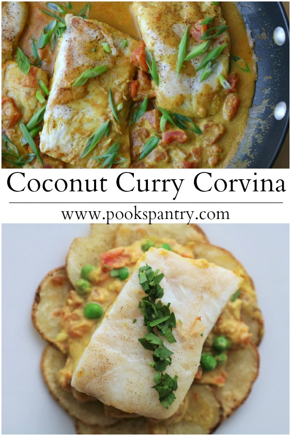 Corvina Recipe with Coconut Curry Sauce | Pook's Pantry Recipe Blog