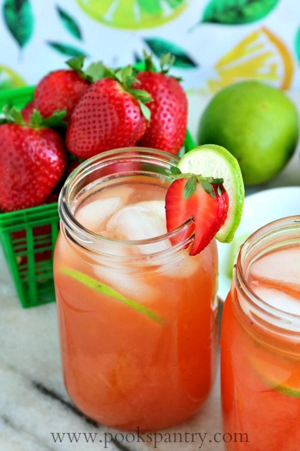 Strawberry Limeade Recipe | Pook's Pantry Recipe Blog