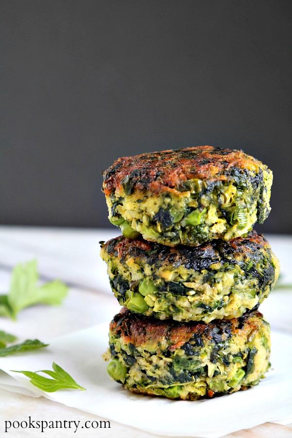 Green Vegetable Cakes | Pook's Pantry Recipe Blog