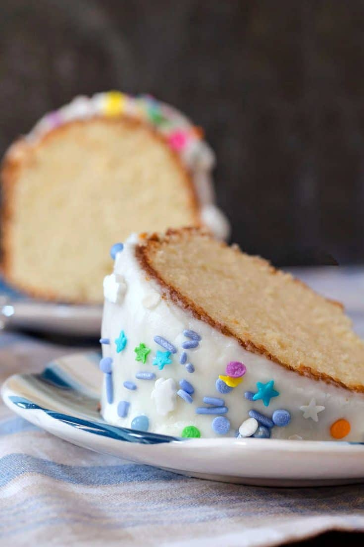 Whipping Cream Pound Cake for #SummerDessertWeek