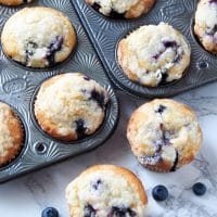 Bakery Style Blueberry Muffins #BacktoSchoolTreats