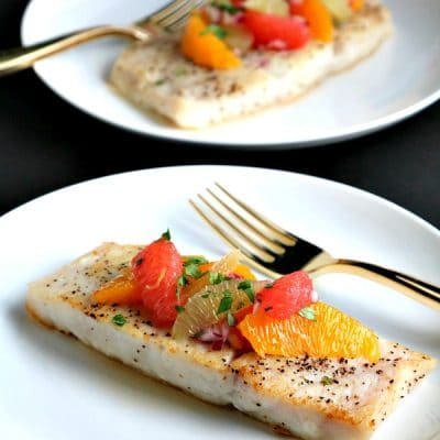 corvina with citrus salsa