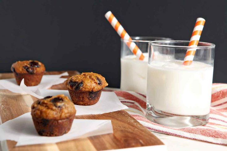 Mini Pumpkin Muffins with Chocolate Chips