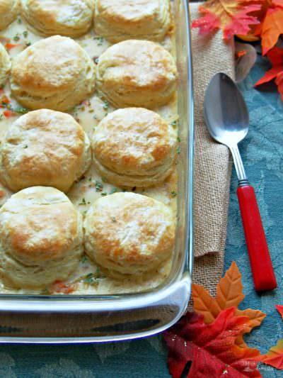 Turkey Biscuit Casserole