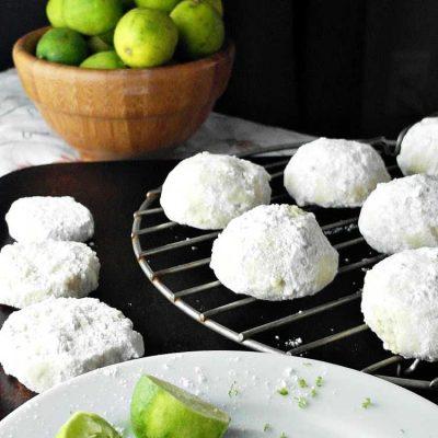 The Best Wedding Cookies Recipe| Key Lime Ginger Wedding Cookies