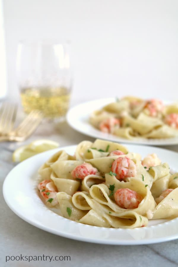 Langostino Pasta for Two