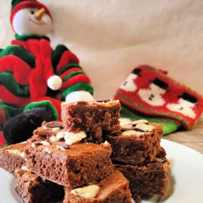 Ghirardelli Peppermint Bark Brownies | Delicious Christmas Brownies!