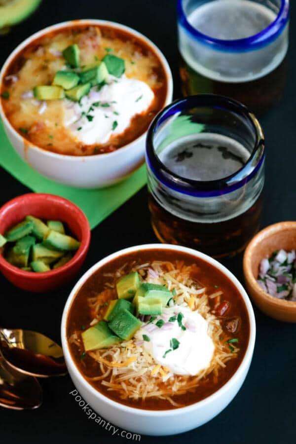 Quick and Easy Beef Dark Beer Chili Instant Pot Recipe