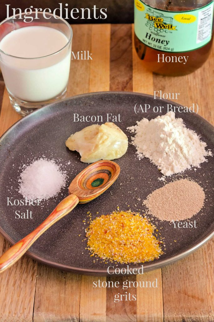 ingredients to make grits bread
